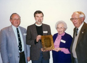 Neil and Emily Morris Receiving the  Laurel Hill Community Award (2008)