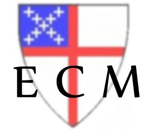 Image: shield logo of the Episcopal Church with the letters ECM superimposed at the bottom